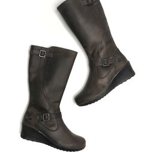 """Keen """"Keen of Scots"""" Tall Oiled Leather Wedge Boot"""